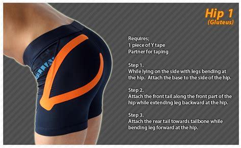 hip flexor kinesio taping method shoulder exercises