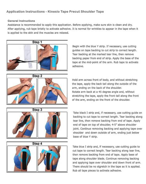 hip flexor kinesio taping techniques shoulder bicep