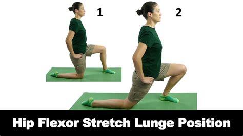 hip flexor lunge stretch for herniated