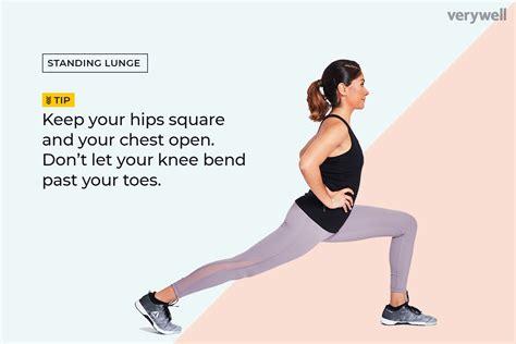hip flexor lunge stretch on step equations