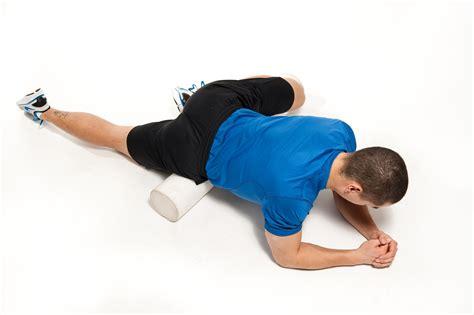 hip flexor massage with foam roller