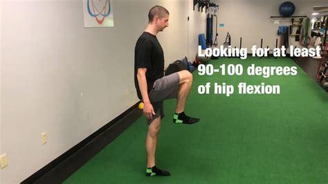 hip flexor mobility test adults