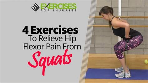 hip flexor pain from squatting exercise for bladder
