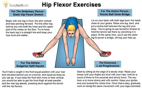 hip flexor pain with squatting exercise instructions