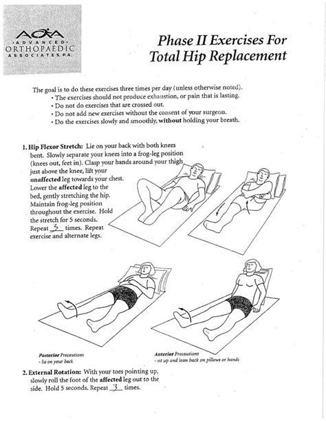 hip flexor rehabilitation protocol following total hip replacements