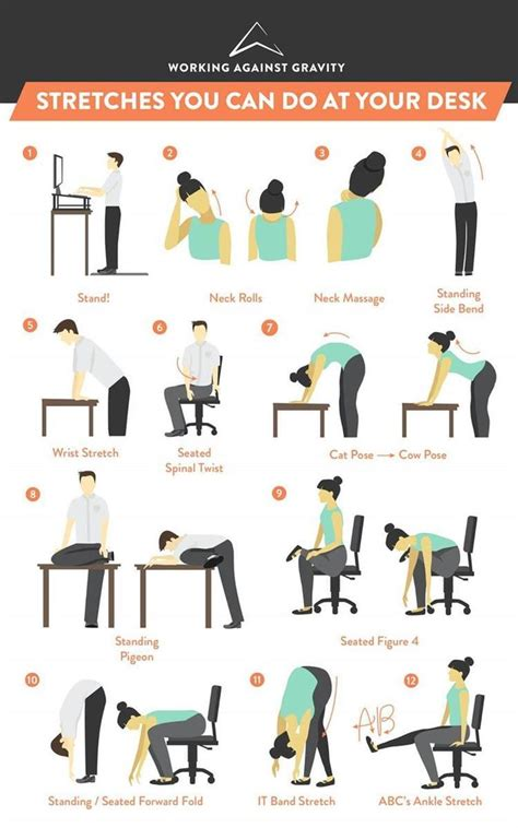 hip flexor stretches at your desk