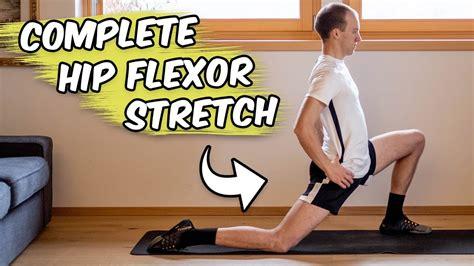 hip flexor stretches yoga youtube beginners seated calf