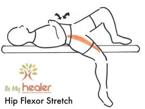 hip flexor stretching geriatrics supine position