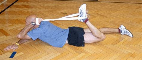 hip flexor stretching geriatrics supine position and blood