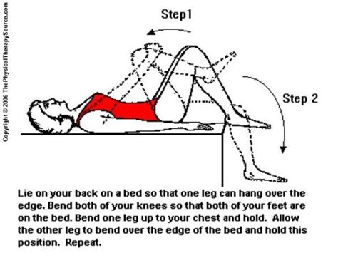 hip flexor stretching geriatrics supine position sexual health