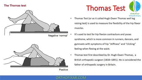 hip flexor tightness images in thomas test orthopedic