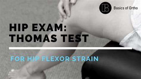 hip flexor tightness images in thomas test youtube baby