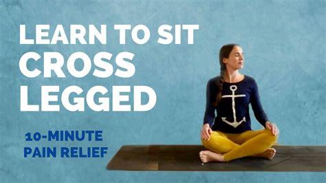 hip joint pain when sitting cross legged
