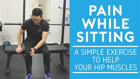 hip pain only when sitting