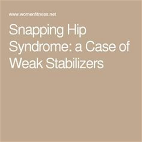 hip snapping syndrome mris real estate
