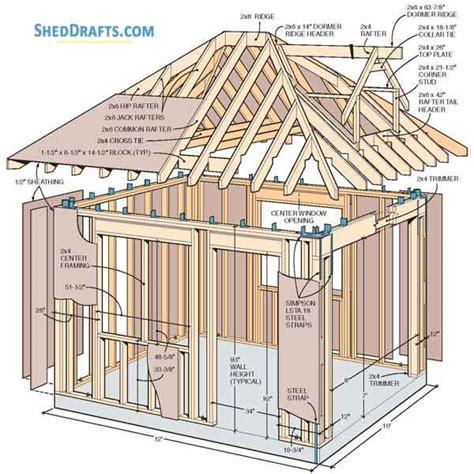 Hip Roof Barn Plans