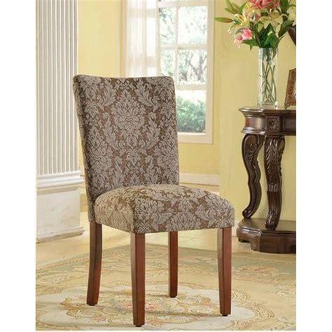 Hoadley Upholstered Damask Parsons Chair (Set of 2)