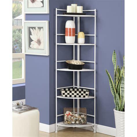 Hockensmith 5 Tier Folding Corner Unit Bookcase