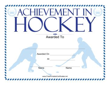 athletic certificate template
