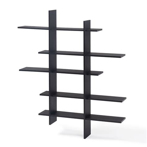 Hoisington 5 Shelf Asymmetric Wall Shelf