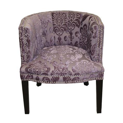 Holzer Plum Fan Damask Barrel Chair