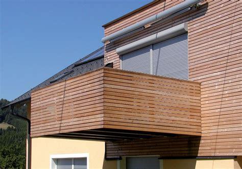 Holzpaneele Balkon