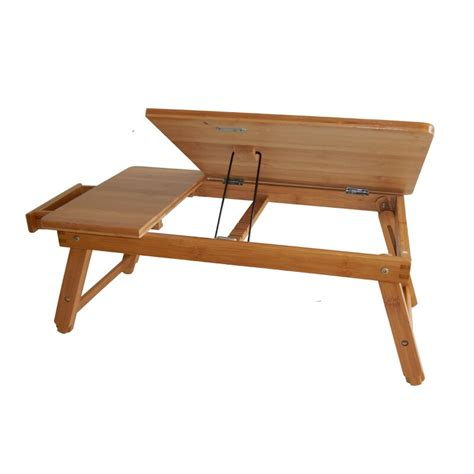 Home Bamboo Adjustable Laptop Tray
