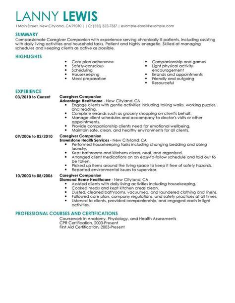 home companion resume sample caregivers companions resume sample resume builder - Sample Caregiver Resume