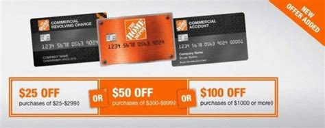 home depot credit card discount coupon credit card offers the home depot - Home Depot Business Credit Card