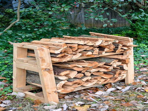 Homemade Log Rack