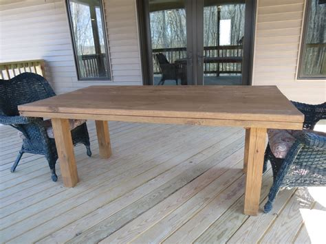 Homemade Patio Table