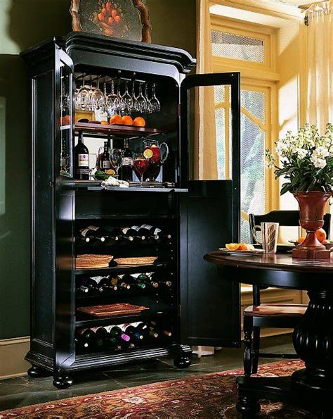 hooker furniture bar wine cabinet