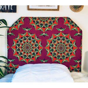 Hornung Mandala Beveled Twin/Twin XL Upholstered Panel Headboard