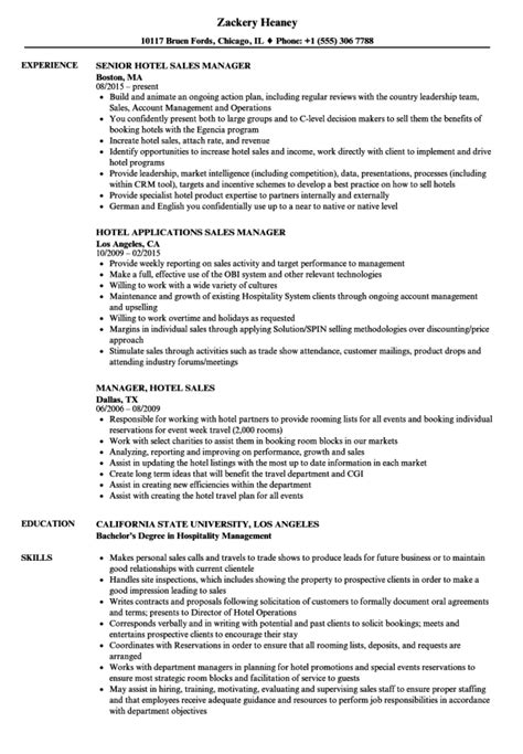 sample resume hotel sales manager hotel sales manager resume resumes sample resume - Sample Resume For Hotel Manager