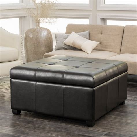 Houle Leather Storage Ottoman