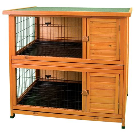 how to build a double decker rabbit hutch