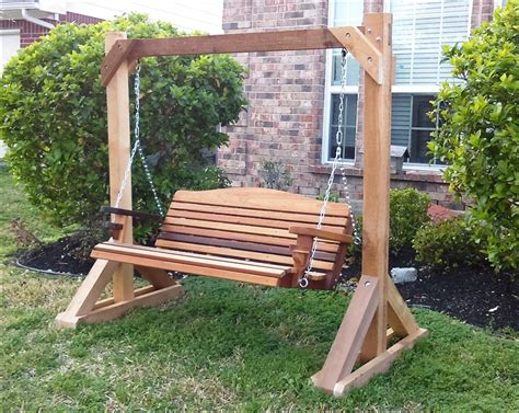 how to build an a-frame porch swing