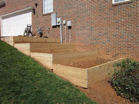how to build garden boxes on a slope