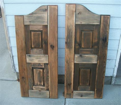 how to build swinging saloon doors