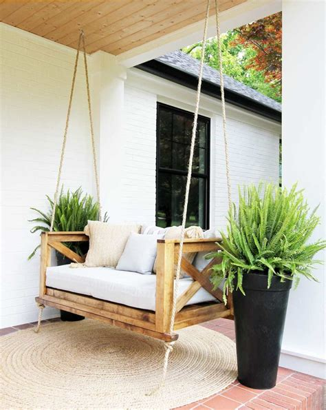 how to hang a swing on porch