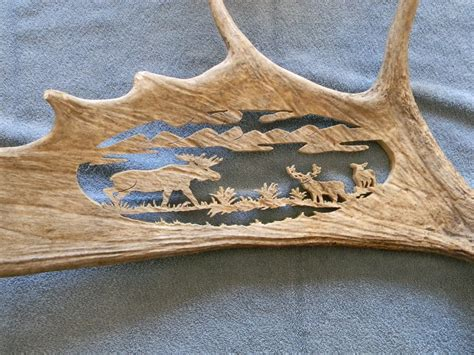 how to scroll saw moose antler
