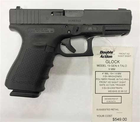 Glock-Question How Much Does A Gen 4 Glock 19 Cost.