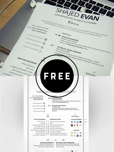 How To Make A Nice Resume On Word 100 Free Resume Templates Psd Word Utemplates