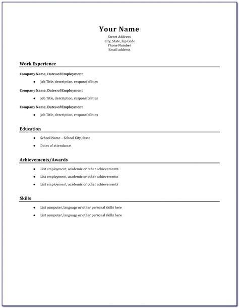 How To Basic Resume Basic Resumes Instantresumetemplates