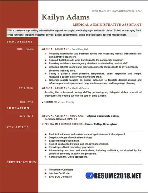 how to write resume for medical assistant best medical assistant resume example livecareer best medical