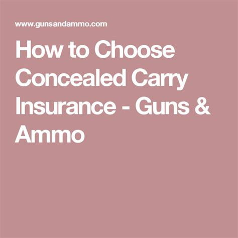 Concealed Carry Lawyer On Retainer How To Choose Concealed Carry Insurance Guns Ammo