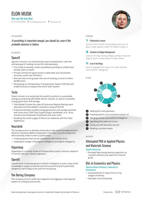 create cv easy how to create a cv like elon musks for your protagonist