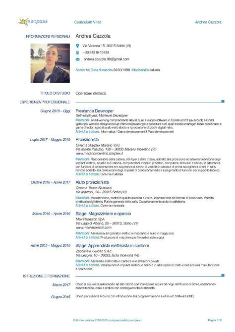 How To Write A Curriculum Vitae For Teachers Curriculum Vitae Europass