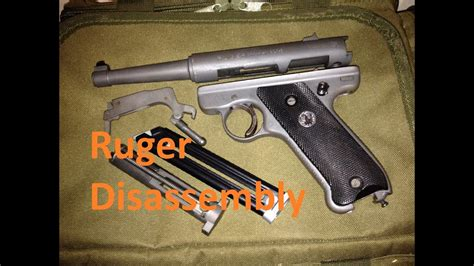 Ruger-Question How To Disassemble Ruger Mk1.