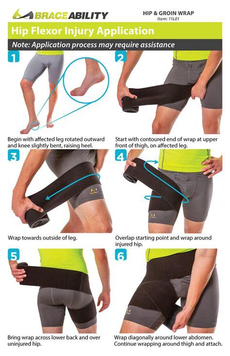 how to do a hip flexor wrap pr events